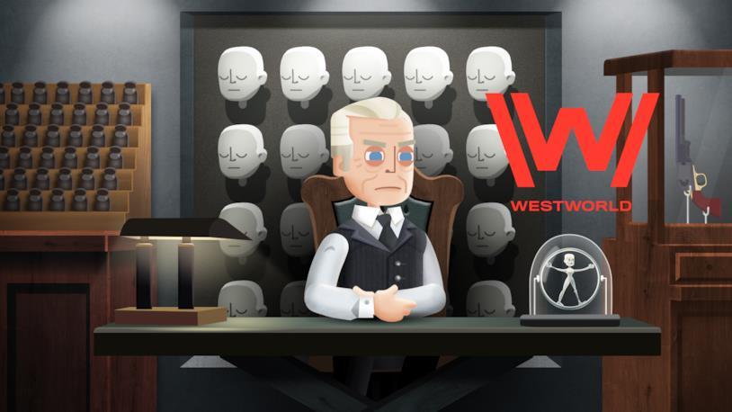Robert Ford nel videogioco di Westworld