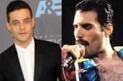 Mezzobusto di Rami Malek con statuetta dell'Oscar in mano
