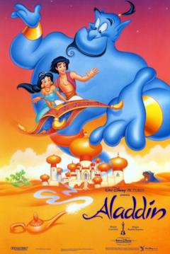 I protagonisti di Aladdin nel poster italiano del Classico Disney