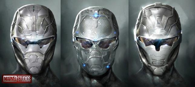 Concept art di Daren Horley per il casco di Iron Man in Avengers: Infinity War