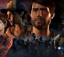 I protagonisti di The Walking Dead: A New Frontier sulla cover del videogioco