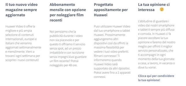 Direttamente dal sito ufficiale Huawei