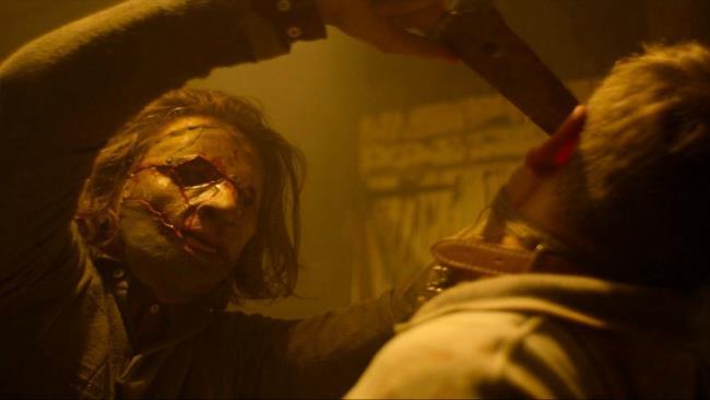 Una scena di Leatherface