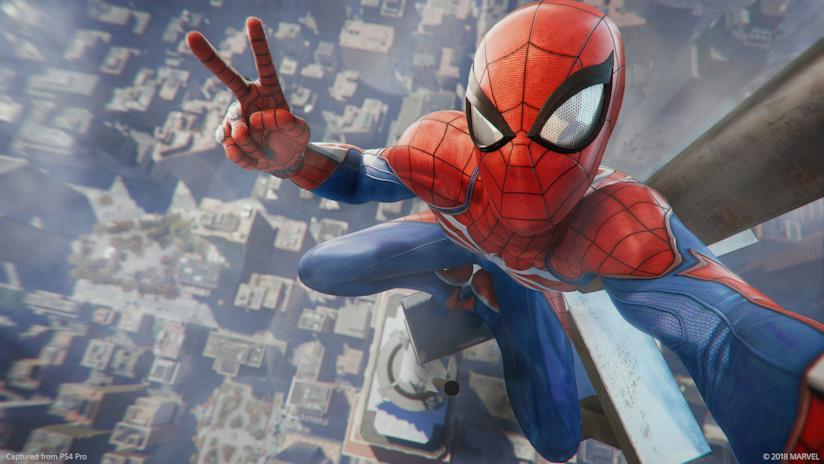 Spider-Man volteggia su PS4