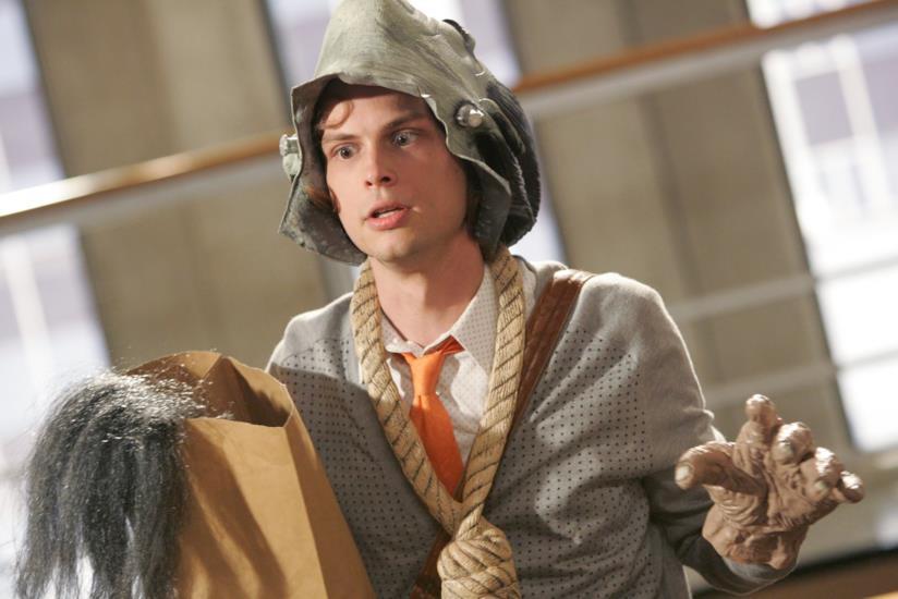 Spencer Reid in una divertente scena di Criminal Minds