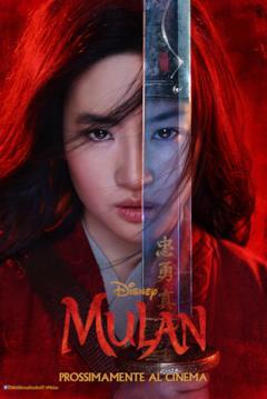 Il doppio volto di Mulan nel poster italiano