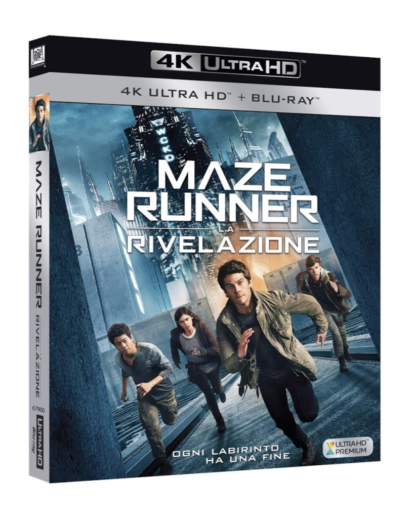 Maze Runner: la Rivelazione. L'edizione home video in 4K Ultra HD
