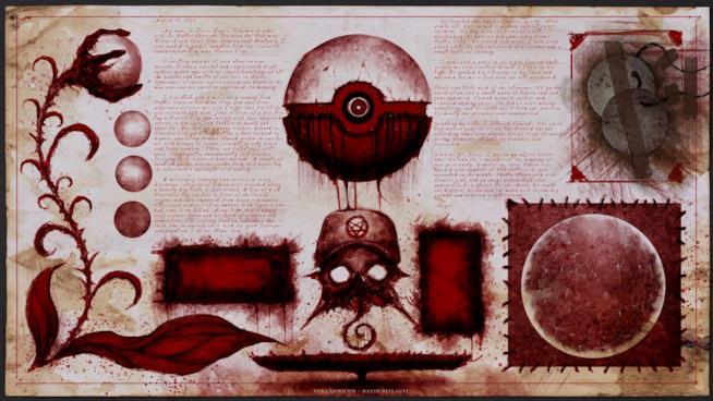 La sfera Poké in una delle pagine del Pokénomicon