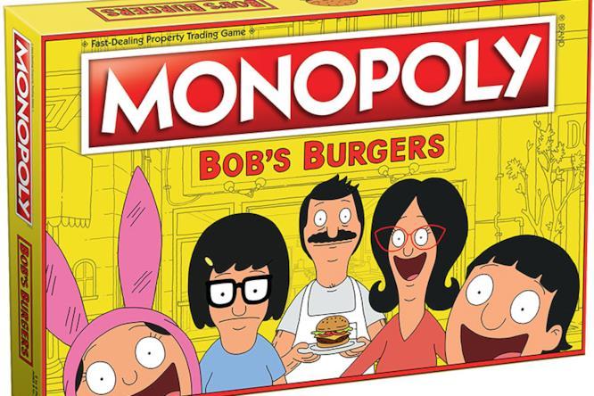 La scatola del Monopoly dedicato a Bob's Burgers