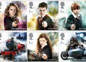 I personaggi di Harry Potter sui francobolli inglesi