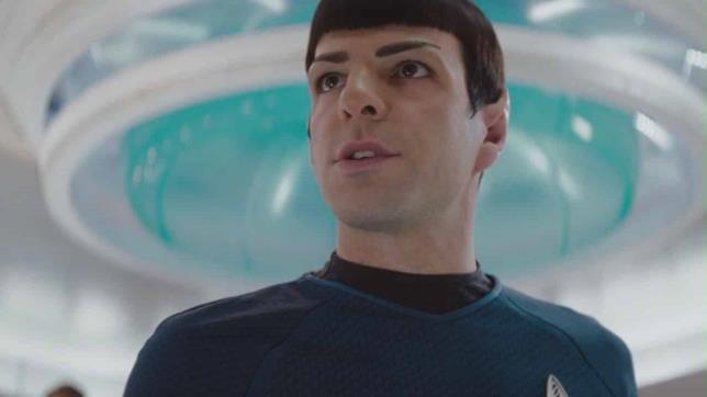Zachary Quinto nei panni del vulcaniano Spock