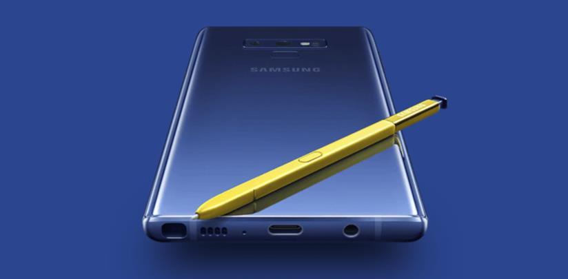 Immagine stampa del Galaxy Note 9 di Samsung