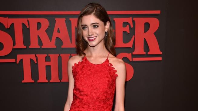 L'interprete di Nancy, Natalia Dyer, all'anteprima di Stranger Things