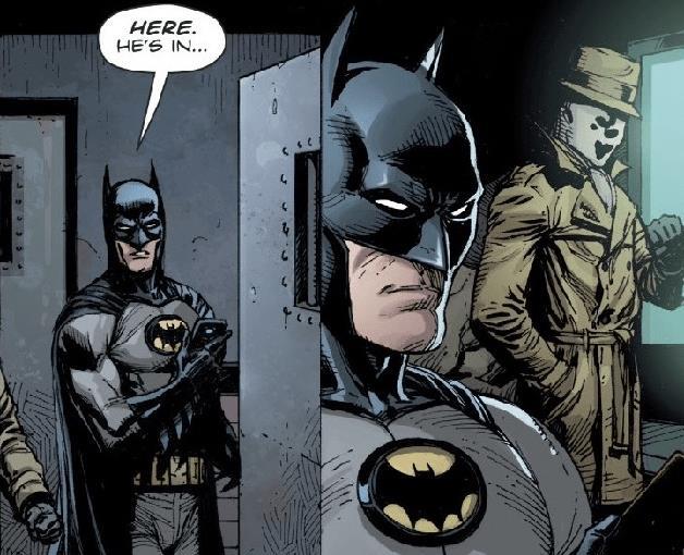 Vignette in cui il secondo Rorschach incontra Batman, in Doomsday Clock