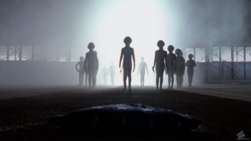 Un gruppo di alieni di X-Files