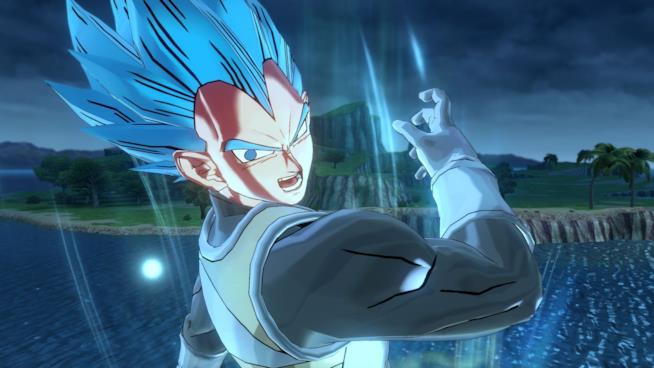 Vegeta Super Saiyan Blue in Dragon Ball Xenoverse 2