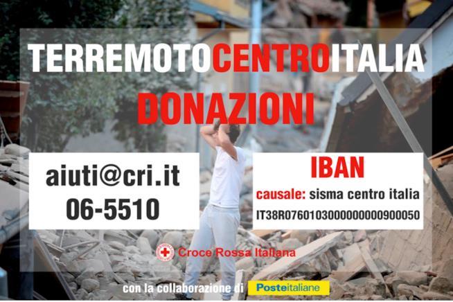 Le informazioni per effettuare una donazione per l'emergenza Terremoto in Centro Italia
