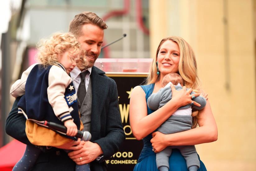 Ryan Reynolds e Blake Lively con le loro figlie
