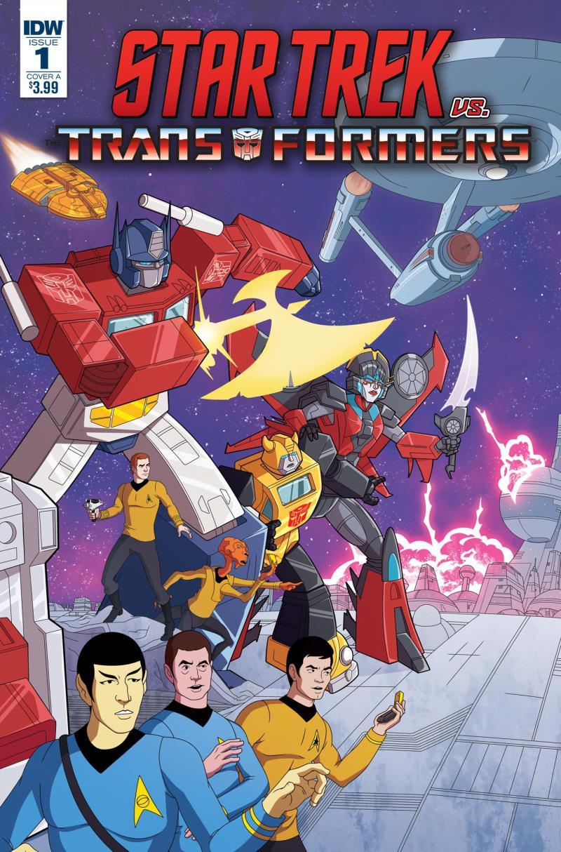 Variante cover Star Trek VS Transformer