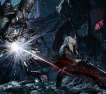 Dante combatte alcuni demoni in Devil May Cry 5