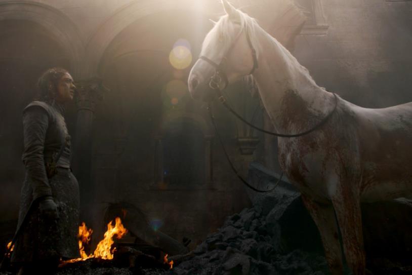 Maisie Williams nella chiusura di Game of Thrones 8x05