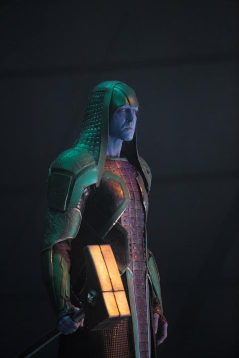 Lee Pace è Ronan l'Accusatore in una scena di Captain Marvel