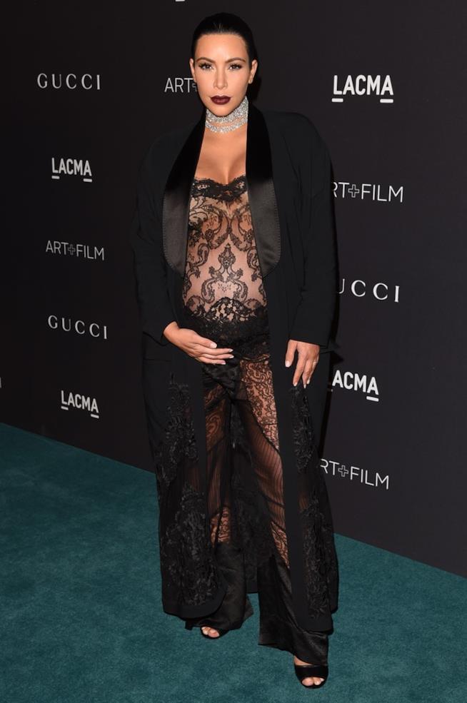Immagine di Kim Kardashian incinta di Saint