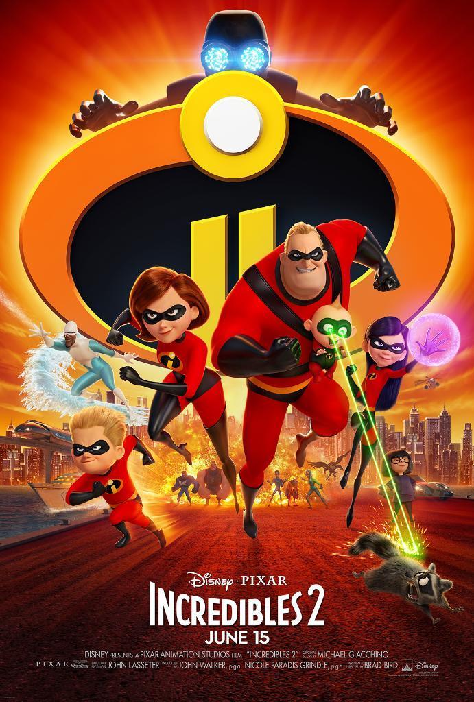 Gli Incredibli nel poster ufficiale del secondo film