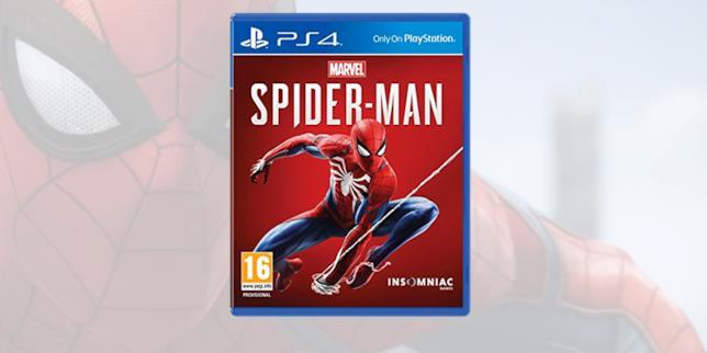 La boxart di Spider-Man su PS4