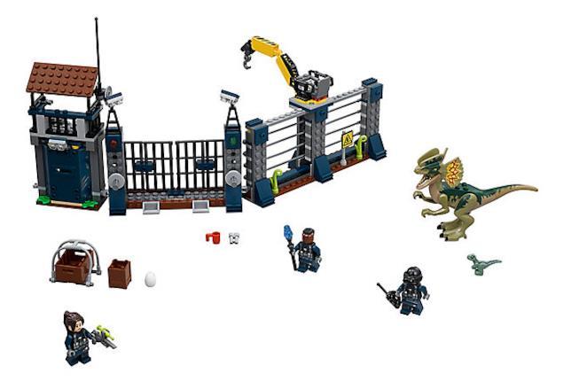 Dettagli del set di LEGO Attacco all'avamposto del Dilofosauro