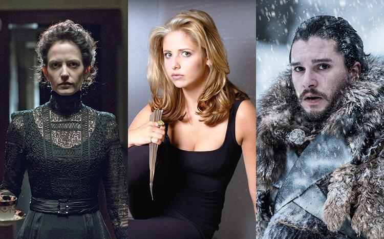 Immagini tratte da Penny Dreadful, Buffy e Game of Thrones