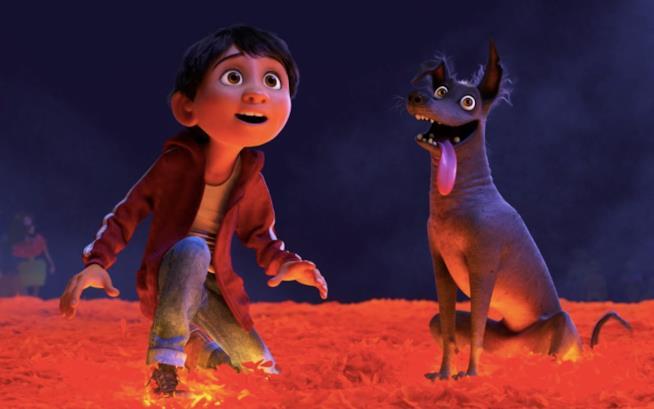 Miguel e il suo cane in Coco