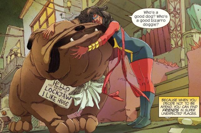 Ms. Marvel abbraccia Lockjaw