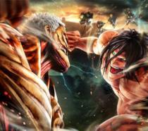 Un combattimento tra Giganti in Attack on Titan 2