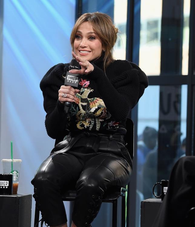 Jennifer Lopez durante una recente intervista