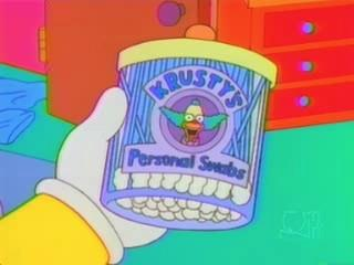 I cotton fioc di Krusty il Clown