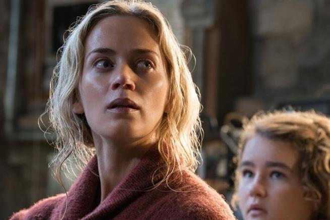 Emily Blunt in una scena di A Quiet Place