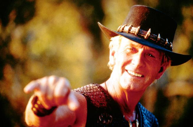 Paul Hogan nei panni di Crocodile Dundee