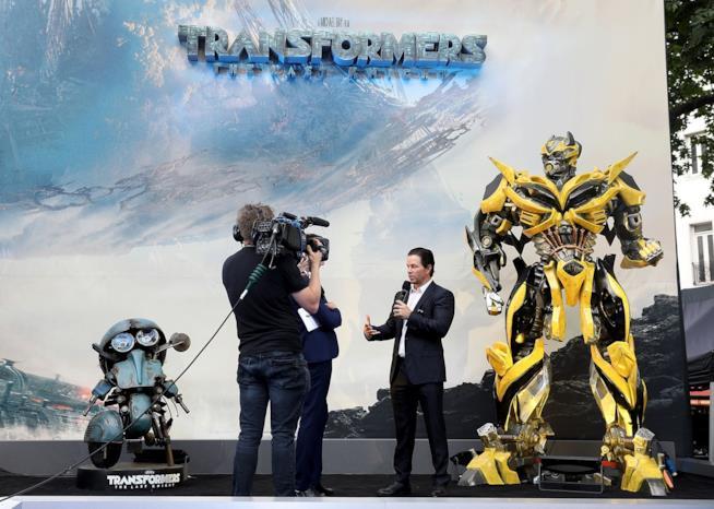 L'attore Mark Wahlberg durante la presentazione di L'Ultimo Cavaliere