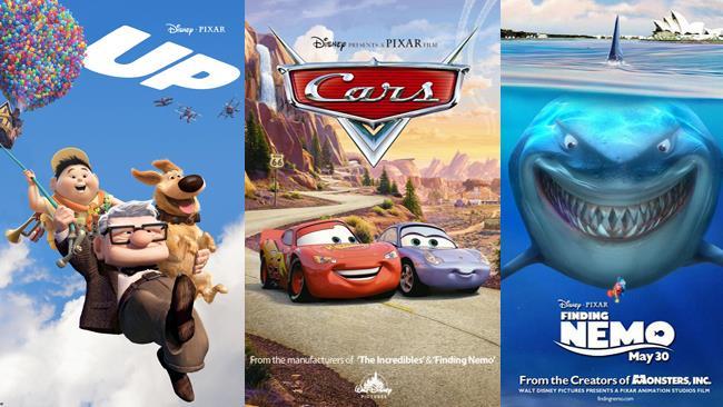 UP, Cars e Alla Ricerca di Nemo