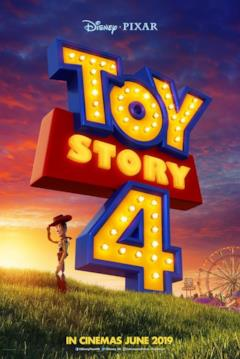Woody col logo di Toy Story 4 nel teaser poster del film