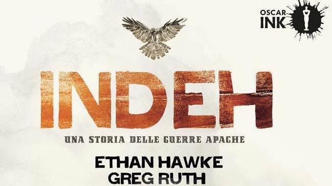 La cover di Indeh, la graphic novel ideata da Ethan Hawke