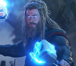 Chris Hemsworth nei panni di Thor, nel film Avengers: Endgame
