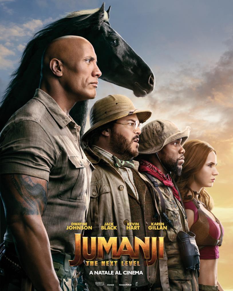 I personaggi di Jumanji: The Next Level