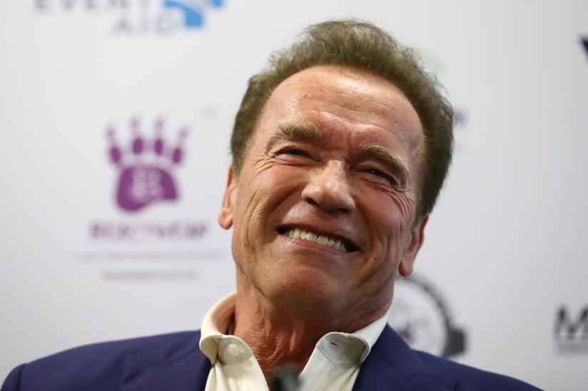 Un primo piano di Arnold Schwarzenegger