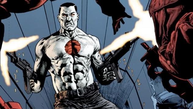 Il fumetto Bloodshot mentre spara
