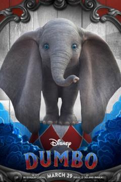 L'elefantino Dumbo nel character poster dal film del 2019
