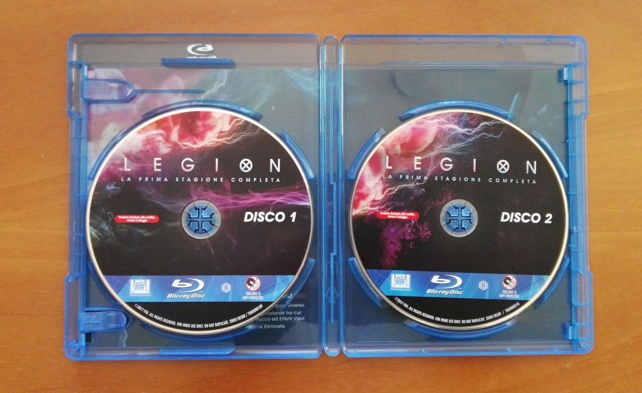 I dischi dell'edizione Blu-ray di Legion - Stagione 1
