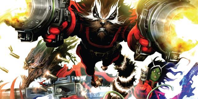 Dettaglio della cover di Guardians of the Galaxy Vol. 2: War of Kings Book 1