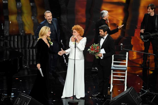 Ornella Vanoni sul palco dell'Ariston